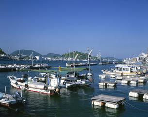 尾道の漁港と向島の写真素材 [FYI03314688]