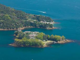 カレイ山より望む桜の能島の写真素材 [FYI03314893]