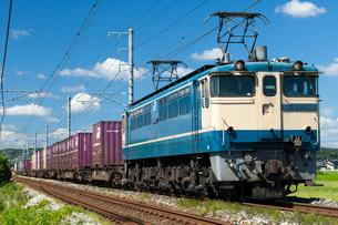 JR瀬戸大橋線EF65貨物列車の写真素材 [FYI03315151]