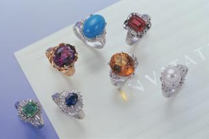 7種の指輪の写真素材 [FYI03315330]
