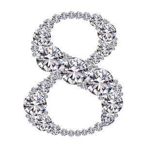ダイヤモンドで作った数字 8の写真素材 [FYI03315594]