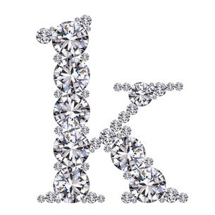 ダイヤモンドで作ったアルファベット 小文字  kの写真素材 [FYI03315602]