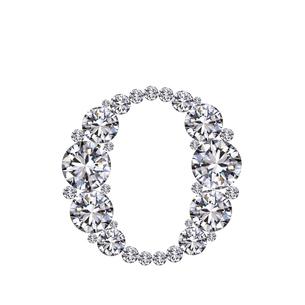 ダイヤモンドで作ったアルファベット 小文字  oの写真素材 [FYI03315607]