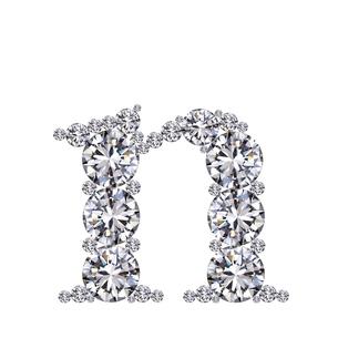 ダイヤモンドで作ったアルファベット 小文字  nの写真素材 [FYI03315608]