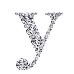ダイヤモンドで作ったアルファベット 小文字  yの写真素材 [FYI03315611]