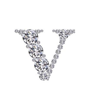 ダイヤモンドで作ったアルファベット 小文字  vの写真素材 [FYI03315612]