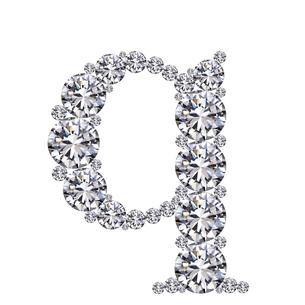 ダイヤモンドで作ったアルファベット 小文字  qの写真素材 [FYI03315613]