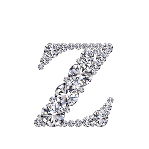 ダイヤモンドで作ったアルファベット 小文字  zの写真素材 [FYI03315614]