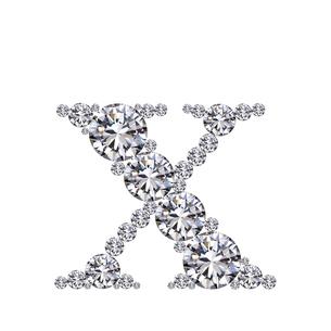 ダイヤモンドで作ったアルファベット 小文字  xの写真素材 [FYI03315616]