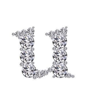 ダイヤモンドで作ったアルファベット 小文字  uの写真素材 [FYI03315618]