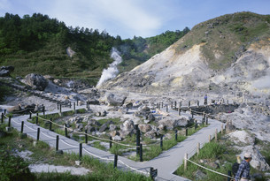 玉川温泉 地獄地帯の写真素材 [FYI03316364]