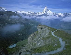 ブラウヘルトからマッターホルン スイスの写真素材 [FYI03316541]