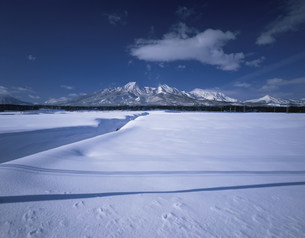 妙高山の雪景色の写真素材 [FYI03316778]