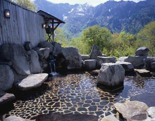 のよさの里の露天風呂の写真素材 [FYI03316849]