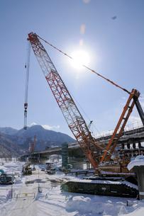 北陸新幹線橋梁工事の写真素材 [FYI03316990]