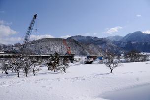 北陸新幹線橋梁工事の写真素材 [FYI03316995]