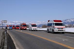 災害復旧緊急援助隊の写真素材 [FYI03317029]