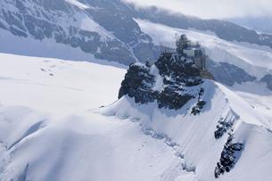 ユングフラウヨッホのスフィンクスとアレッチ氷河の写真素材 [FYI03317212]