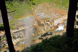 地獄谷の露天風呂の写真素材 [FYI03317779]