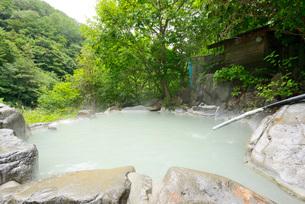濁り湯の露天風呂の写真素材 [FYI03317790]