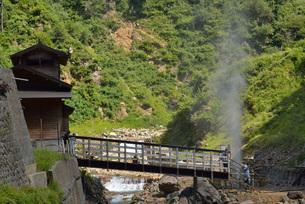 地獄谷の噴泉の写真素材 [FYI03317791]