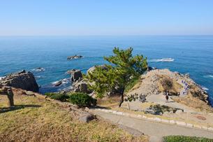 名勝東尋坊と日本海の写真素材 [FYI03317878]