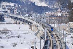 北陸新幹線試運転列車の写真素材 [FYI03317903]