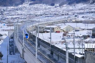 北陸新幹線上り試運転列車の写真素材 [FYI03317909]
