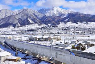 北陸新幹線上り試運転列車の写真素材 [FYI03317911]