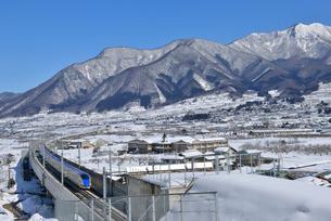 北陸新幹線上り試運転列車の写真素材 [FYI03317918]