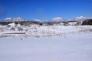 北信濃の雪山の写真素材 [FYI03317964]