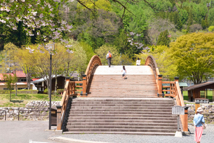 木曽奈良井宿、奈良井大橋の写真素材 [FYI03318013]