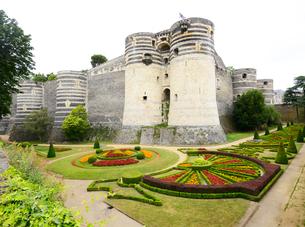 アンジェ城城壁と庭園の写真素材 [FYI03318217]