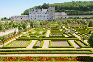 ヴィランドリー城庭園と城館の写真素材 [FYI03318299]