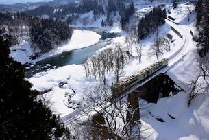 ローカル鉄道 JR飯山線の写真素材 [FYI03318713]