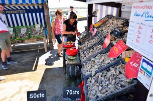 カンカルの牡蠣屋台の写真素材 [FYI03318924]