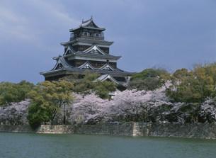 広島城の天守閣南面の写真素材 [FYI03319345]