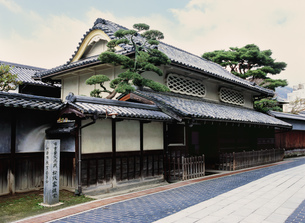 竹原の町並み 松阪邸の写真素材 [FYI03319537]