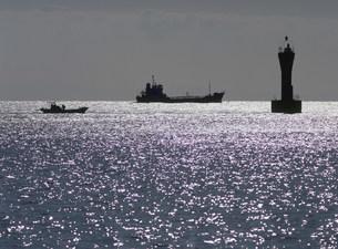 光る海 瀬戸内海の写真素材 [FYI03319605]