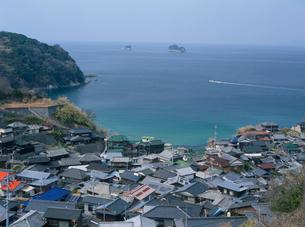 白井田漁港集落の写真素材 [FYI03319751]
