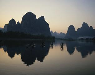 桂林鵜飼漁の写真素材 [FYI03320590]