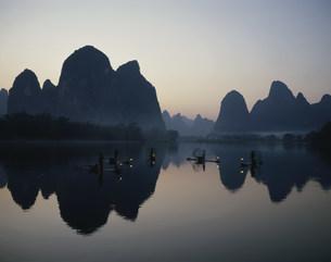 桂林鵜飼漁の写真素材 [FYI03320592]