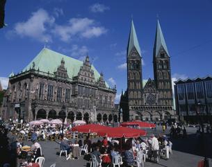 市庁舎 7月 ブレーメン ドイツの写真素材 [FYI03320783]