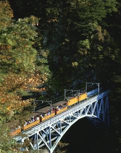 トロッコ列車 宇奈月町 11月の写真素材 [FYI03323992]