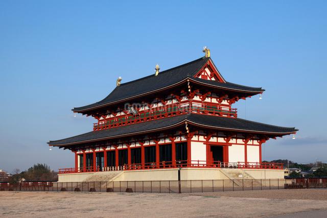 平城京跡の大極殿の写真素材 [FYI03328533]