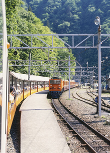 黒部峡谷鉄道の写真素材 [FYI03329040]