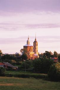 スズダリ夕景 ロシアの写真素材 [FYI03330078]