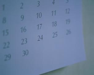 カレンダーのイメージの写真素材 [FYI03330708]