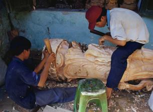木彫工房の写真素材 [FYI03330916]