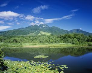 いもり池と妙高山の写真素材 [FYI03331182]